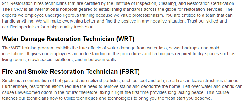 911 Restoration of Albuquerque Certification Page
